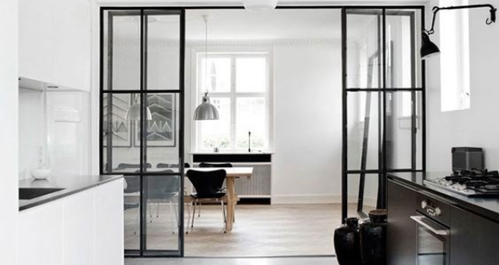 Best door openings ideas - metal frames. Maria Fenlon Dublin interior design
