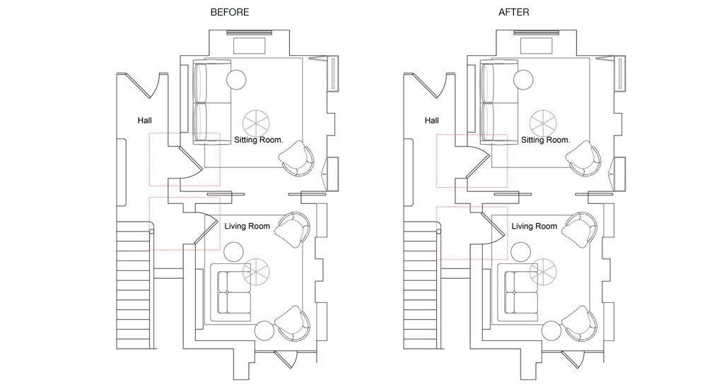 Best door openings ideas. Maria Fenlon Dublin interior design