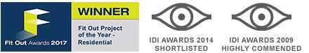 Fit-Out award 2017, IDI awards 2009, 2014