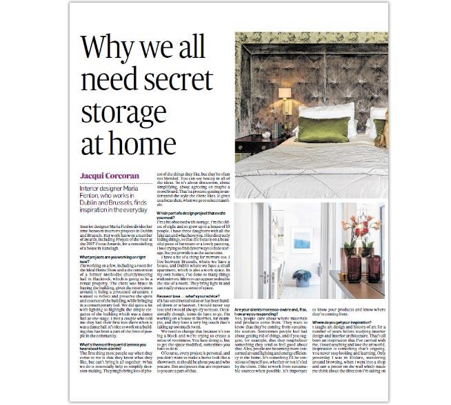 Maria Fenlon in the Irish Times